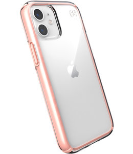 Speck Speck Presidio Perfect Clear Apple iPhone 12 Mini Clear/Rosy Pink - with Microban
