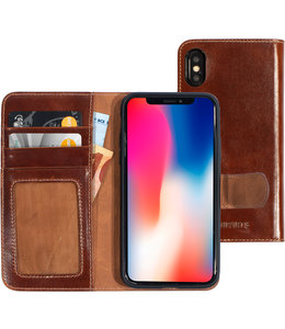 Mobiparts Mobiparts Excellent Wallet Case 2.0 Apple iPhone X/XS Oaked Cognac