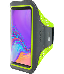 Mobiparts Mobiparts Comfort Fit Sport Armband Samsung Galaxy A9 (2018) Neon Green