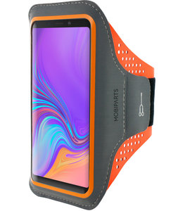 Mobiparts Mobiparts Comfort Fit Sport Armband Samsung Galaxy A9 (2018) Neon Orange
