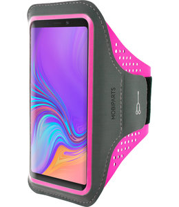 Mobiparts Mobiparts Comfort Fit Sport Armband Samsung Galaxy A9 (2018) Neon Pink