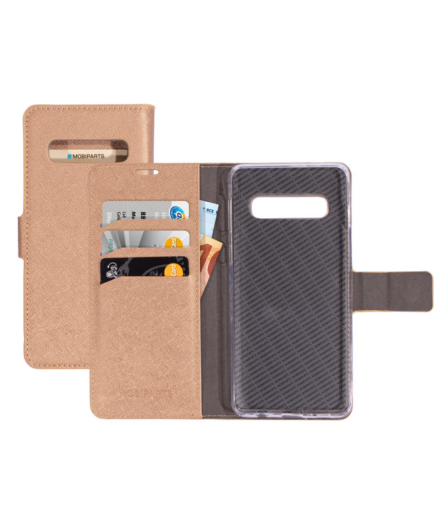 Mobiparts Mobiparts Saffiano Wallet Case Samsung Galaxy S10 Copper