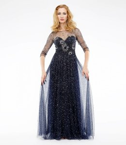 MARCHESA NOTTE Embellished Gown