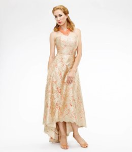 THEIA Hi Low Brocade Ballgown