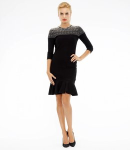 ALEXANDER McQUEEN Pearl Embellished Knitted Dress