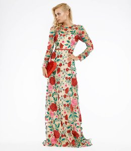 NISSA Embroidered Maxi Dress