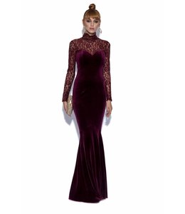 NISSA Long Velvet Dress