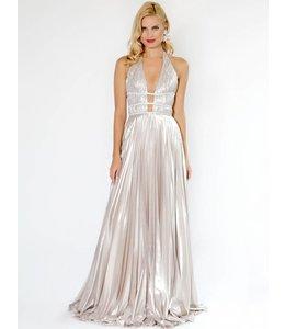 NISSA Maxi dress with shiny effect