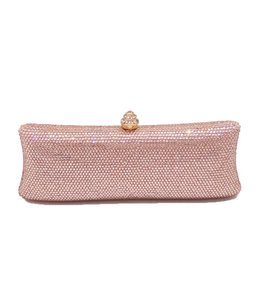 HAND MADE Kristall Clutch In Rosa