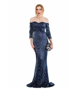 FASHION EMERGENCY Darkblue Sequins Dress