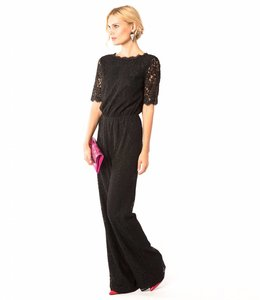 DVF Black Lace  Jumpsuit