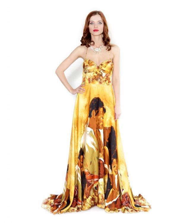 Jorge Terra Fantastic Bustier Silk Dress