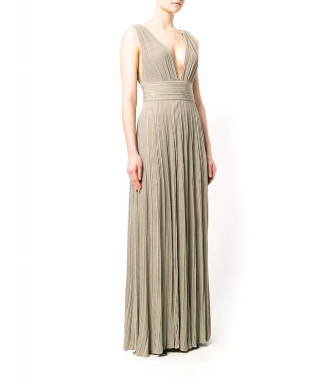ANTONINO VALENTI Langes Olivgrünes Kleid