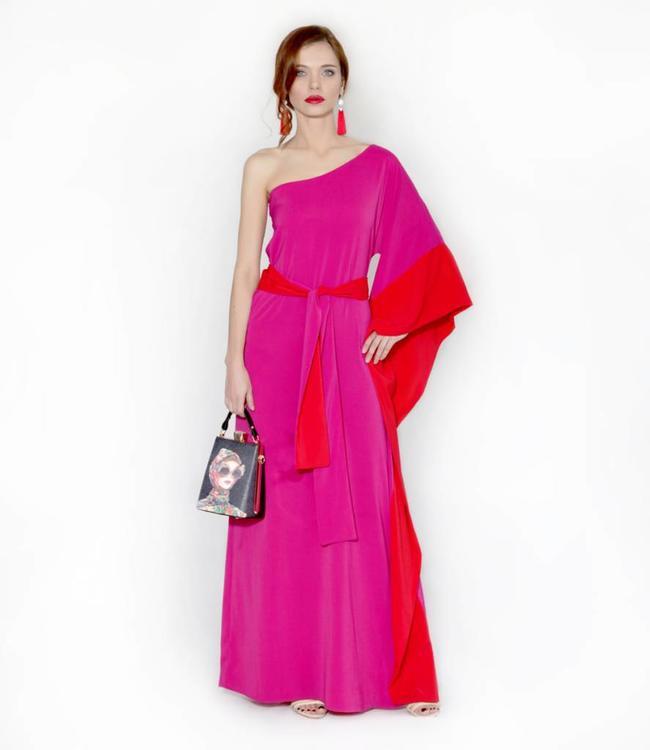 ALESSANDO LEGORA Greek Style Pink Dress
