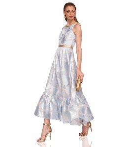 NISSA % Blaues Kleid Mit Blumenmuster