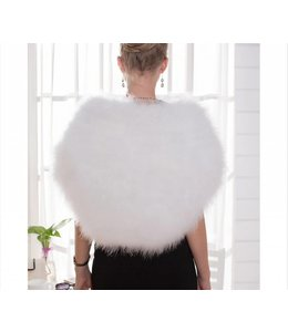 FASHION EMERGENCY Long Ostrich Bolero