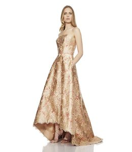 THEIA % Hi Low Brocade Ballgown