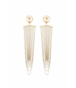 ELISABETTA FRANCHI Earrings With Fringe