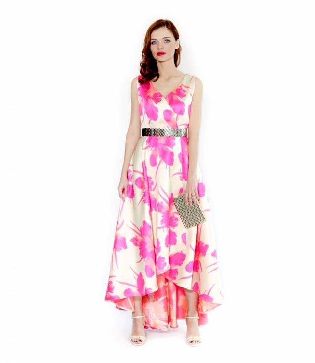 ALESSANDO LEGORA Floral Asymmetrical Dress