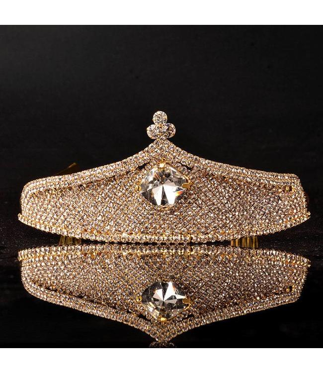 HAND MADE  Crown Crystal  Tiara