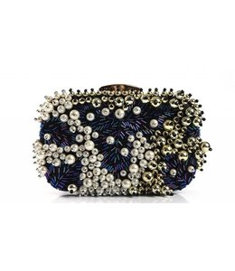 FASHION EMERGENCY Blue PEARL Evening Clutch
