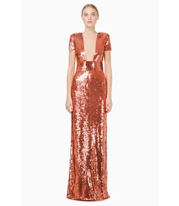 ELISABETTA FRANCHI Long Dress With Embroidery