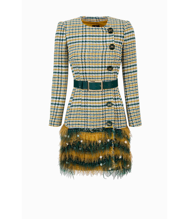 ELISABETTA FRANCHI Dress made of mix of cotton and tulle,