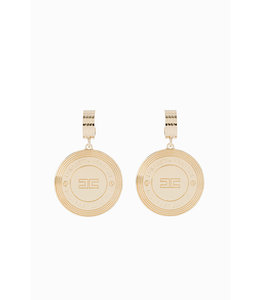 ELISABETTA FRANCHI Earrings with logo