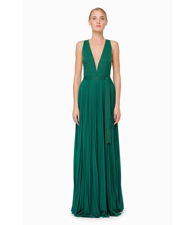ELISABETTA FRANCHI Langes plissiertes Kleid