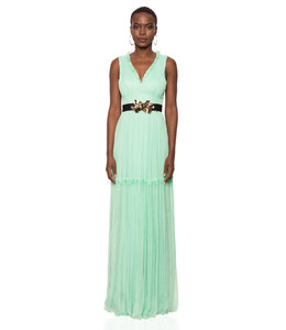 NISSA Silk Dress With Belt
