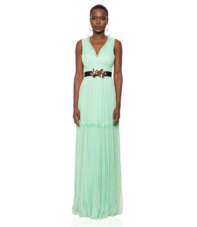 NISSA Silk Dress With Belt