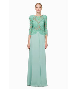 ELISABETTA FRANCHI Long Dress With Lace