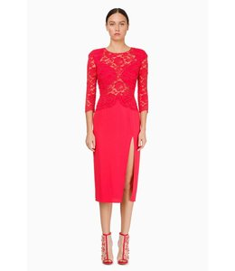 ELISABETTA FRANCHI Calf-Length Dress With Lace