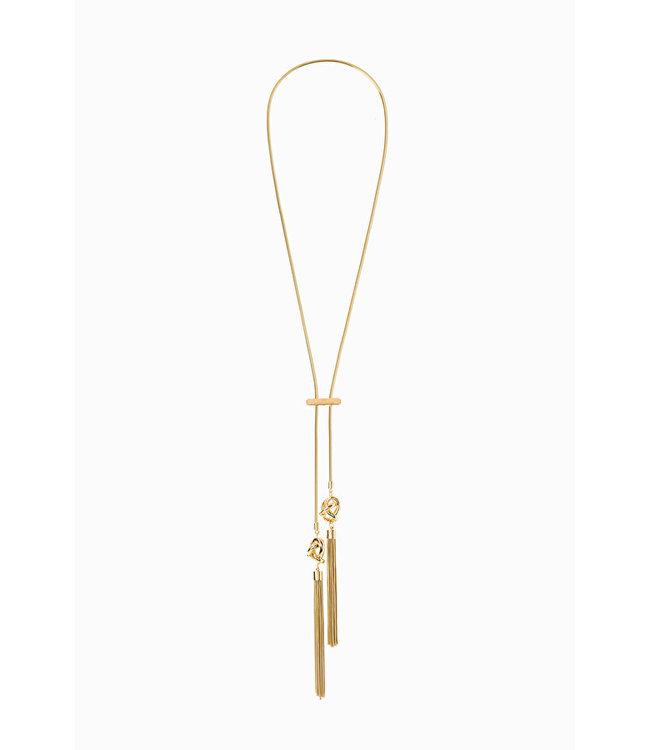 ELISABETTA FRANCHI Necklace with fringes