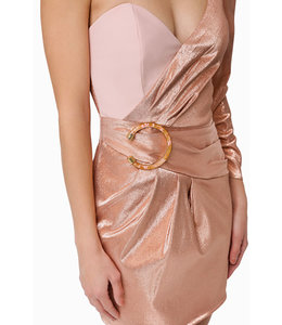 ELISABETTA FRANCHI One Shoulder Mini Dress