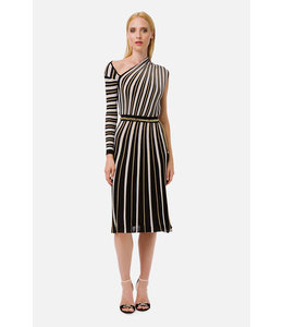 ELISABETTA FRANCHI Knit fabric dress with belt