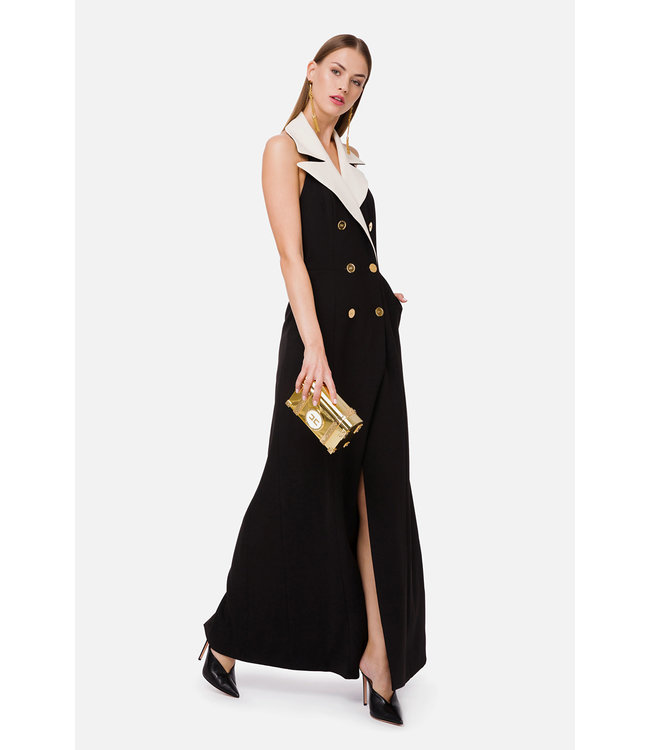 ELISABETTA FRANCHI Double-Breasted Long Dress