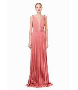 ELISABETTA FRANCHI Pleated Evening Dress