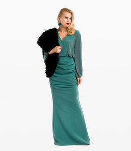 ELISABETTA FRANCHI Long Dress With Belt