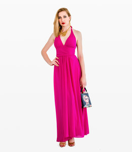LANA CAPRINA Fuchsia  Marilyn  Dress
