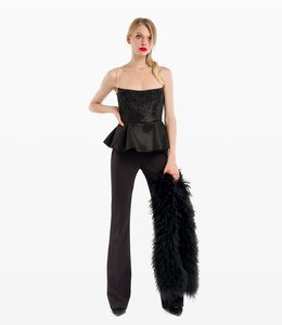 ELISABETTA FRANCHI Long Embroidered Jumpsuit