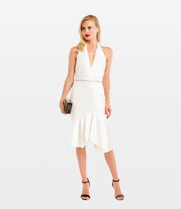 HALSTON % Sleeveless Dress With Embelished Waist