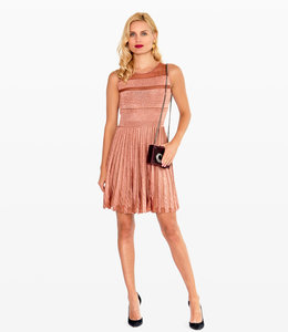 ANTONINO VALENTI Pleated Metallic Dress