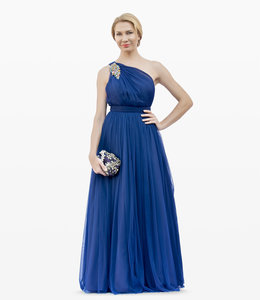 FASHION EMERGENCY Tulle One Shoulder Maxi Dress