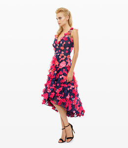 MARCHESA NOTTE 3D Cocktailkleid