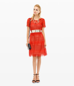 MARCHESA NOTTE Rotes Cocktailkleid