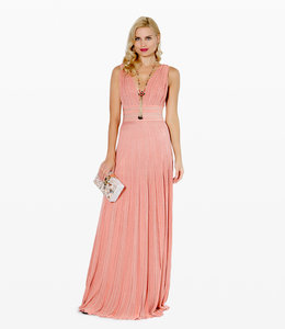 ANTONINO VALENTI Long Peach-Gold  Dress
