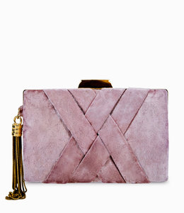 FASHION EMERGENCY Rosa Clutch Aus Samt