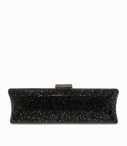 HAND MADE Schwarze Kristall Clutch