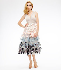 MARCHESA NOTTE Sleveless Ombre Dress